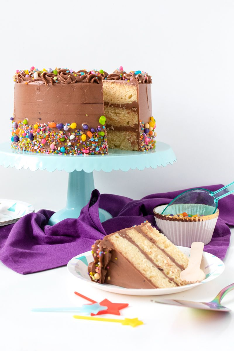 Classic Yellow Cake with Fudgy Chocolate Frosting | Recipe ...