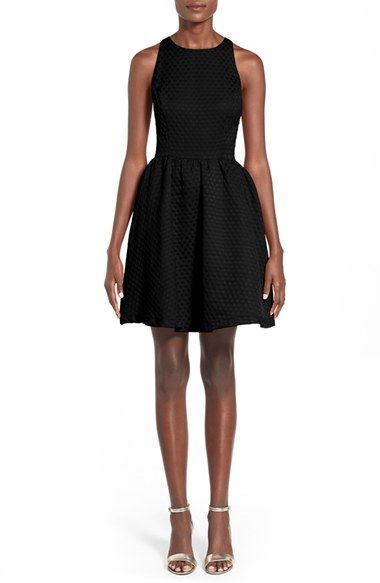 Soprano Bow Back Textured Skater Dress available at #Nordstrom