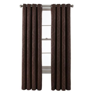 Royal Velvet® Barnes Grommet-Top Blackout Curtain Panel  found at @JCPenney  Matches comforter in fine chocolate color.