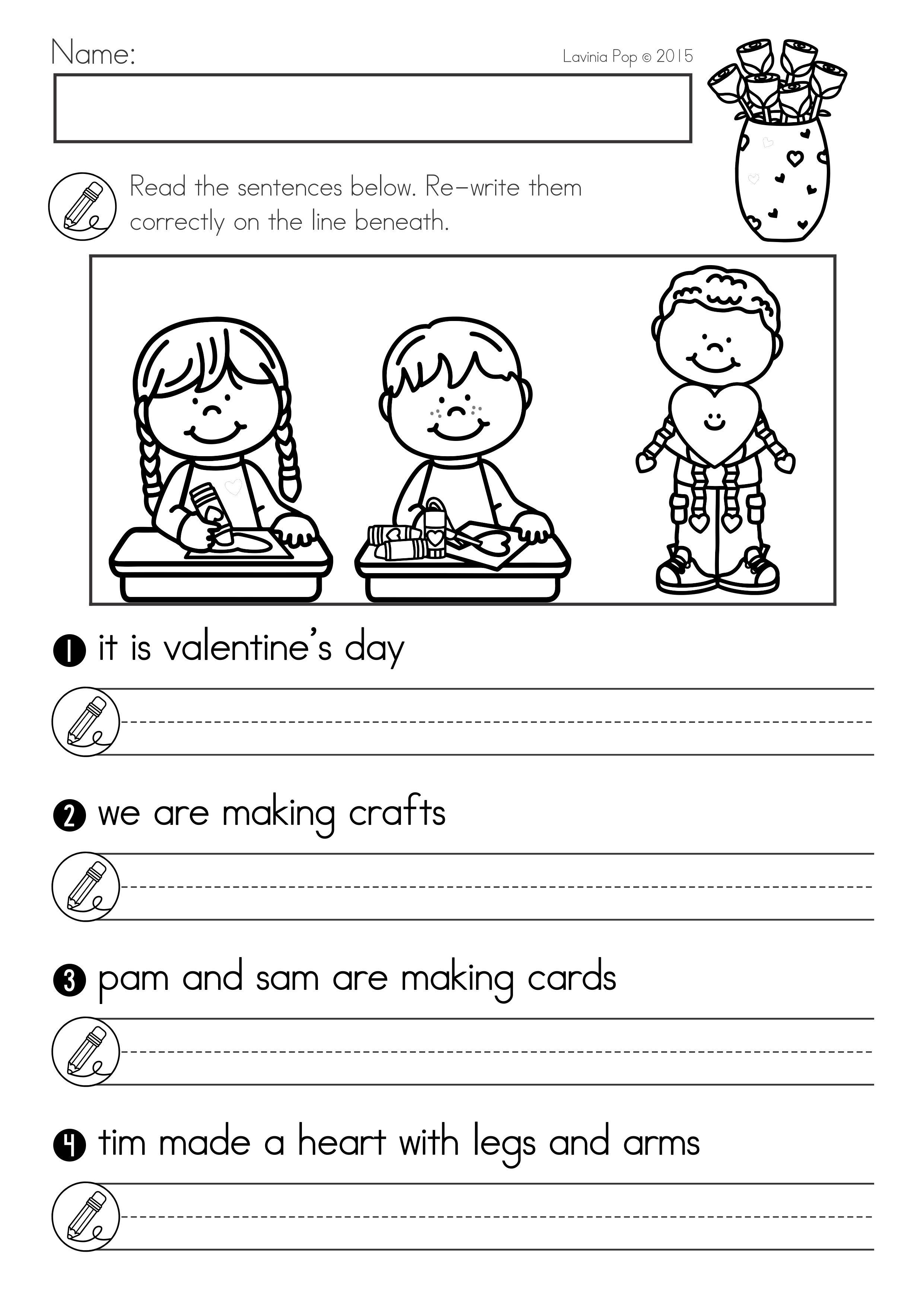 Valentine S Day Math Literacy Worksheets Activities No Prep Literacy Worksheets Math Literacy Kids Math Worksheets [ 3515 x 2482 Pixel ]
