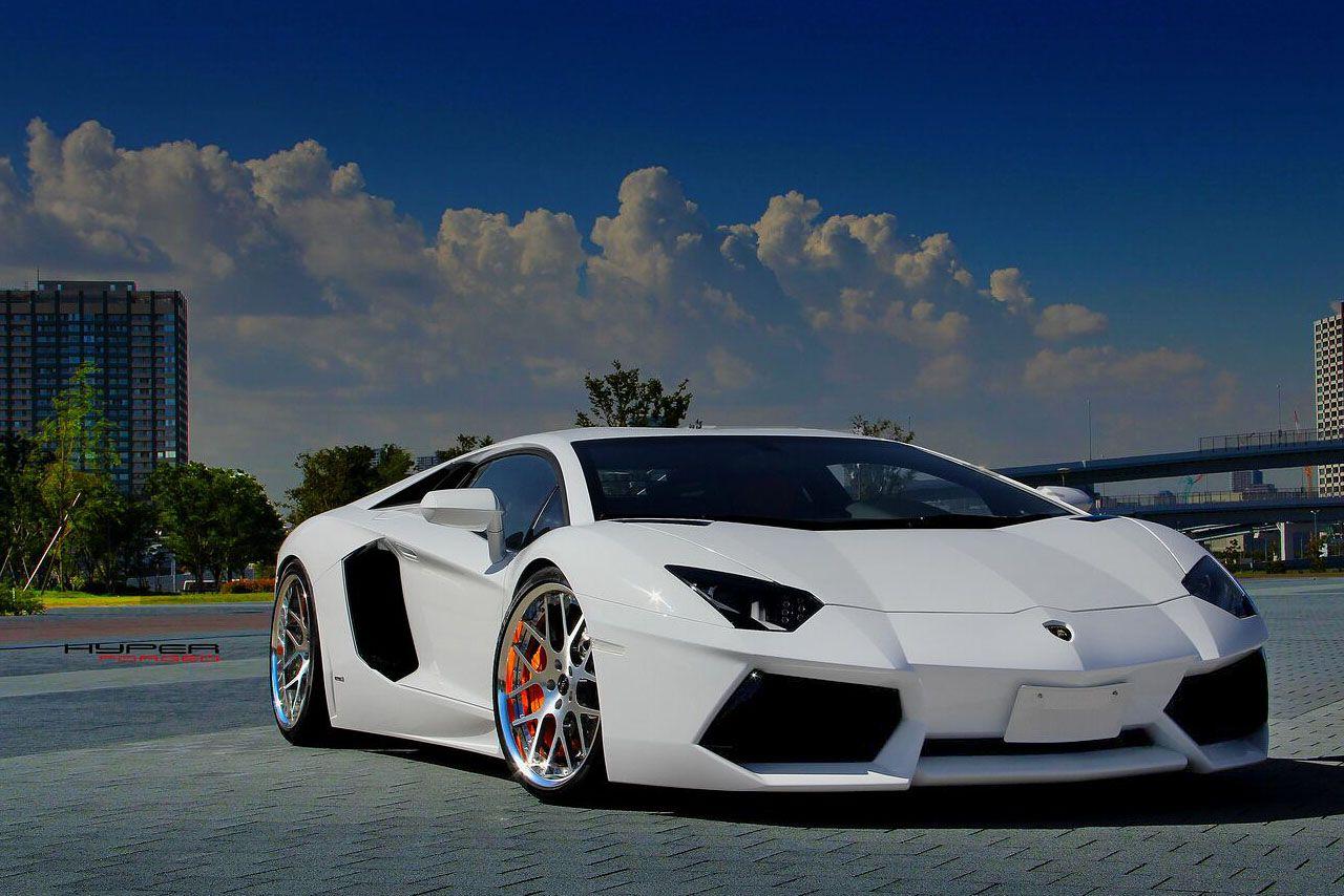 An41 Lamborghini Car Exotic White Art: #Lamborghini/ Aventador