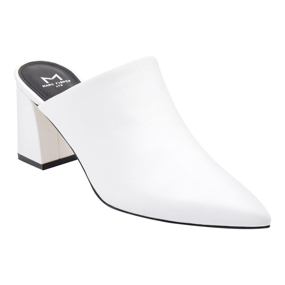 chunky heel and a pointy toe