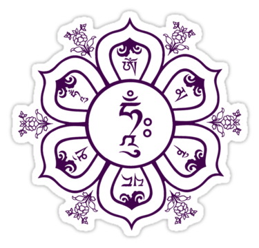 Om Mani Padme Hum Mandala by bodhicittatees