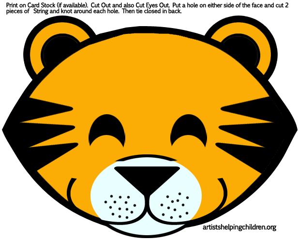 tigers masks printablespng 616498 pixels
