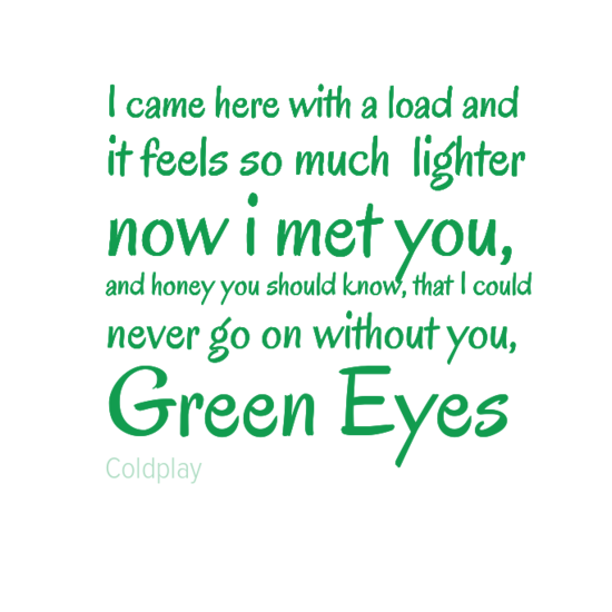 Green Eyes: Coldplay | Green eyes coldplay, Girl with green ...