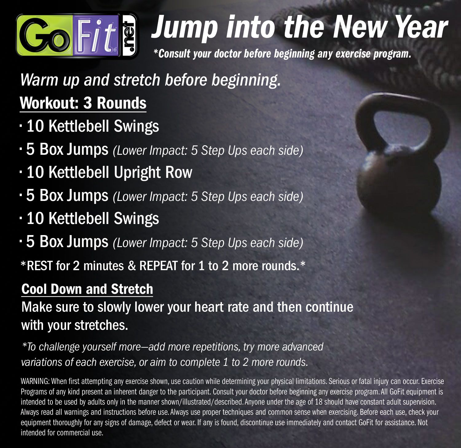 Ring in the New Year with this #kettlebell and ...