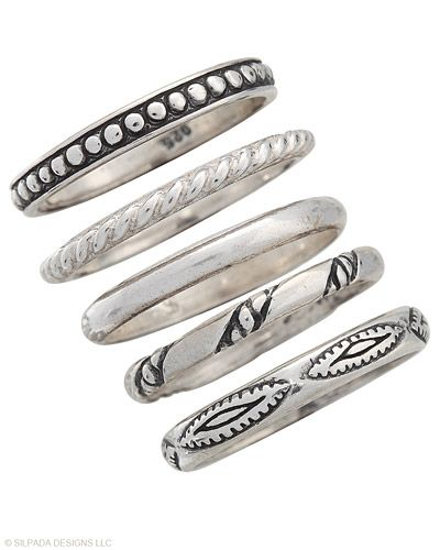 I love my stackable rings!! Wear them all or just a few! They go with everything!!