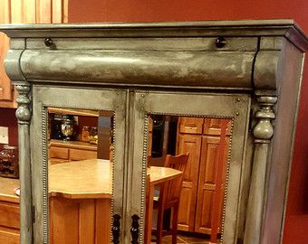 SOLD***** Stunning Armoire, Distressed, High End Piece, Statement