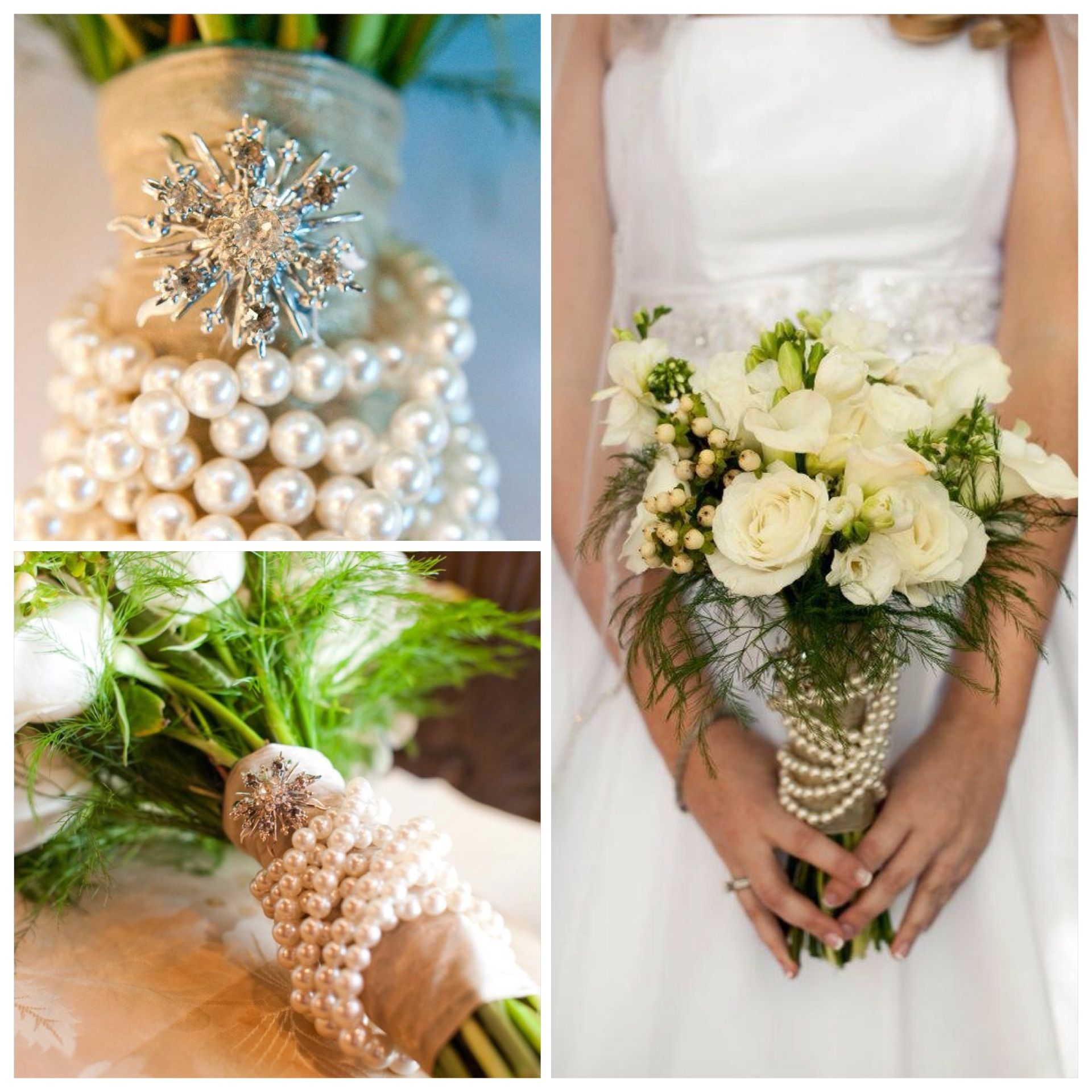 Fall White wedding bouquet, bridal