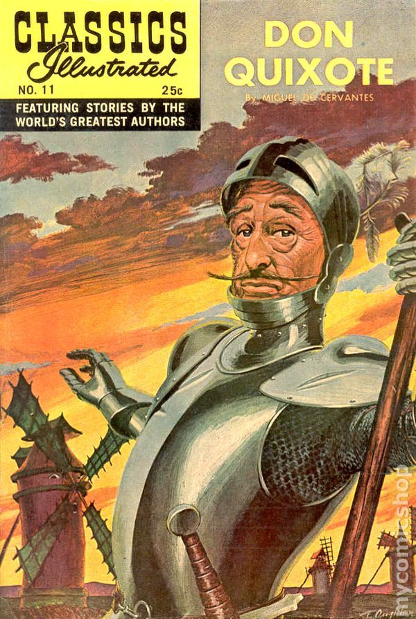 Illustrated Book Cover Number : Don quixote classics illustrated no pinned viii