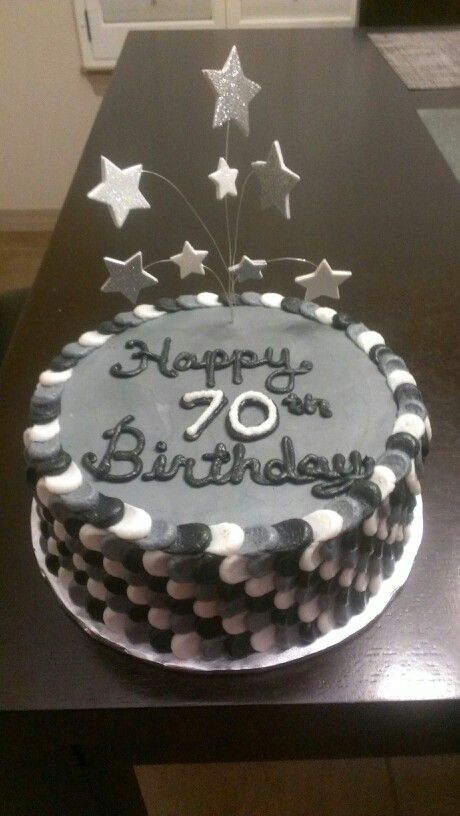 70th Birthday Cake Petal Technique No Fondant My Cakes