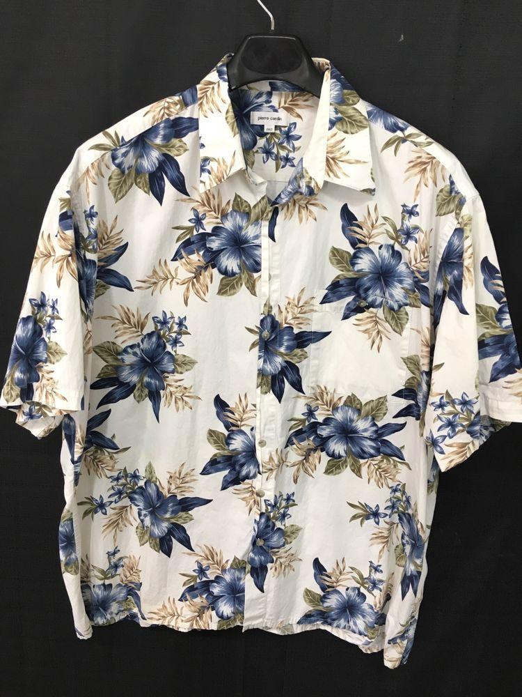 1d6615e17 MENS 2XLT BIG & TALL PIERRE CARDIN HAWAIIAN SHIRT ALOHA FLORAL ISLAND  #PierreCardin #Hawaiian