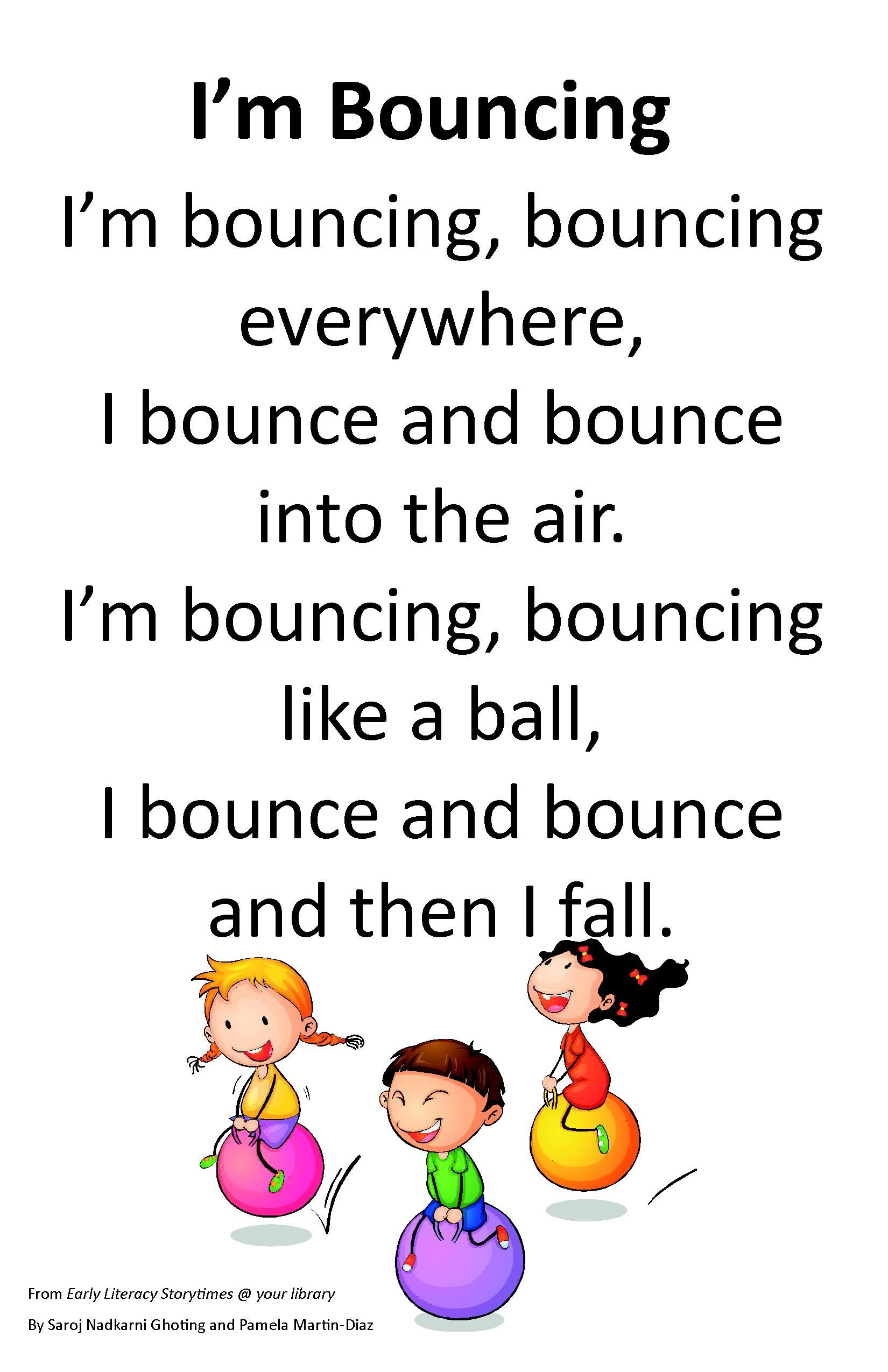 Itty Bitty Rhyme I M Bouncing