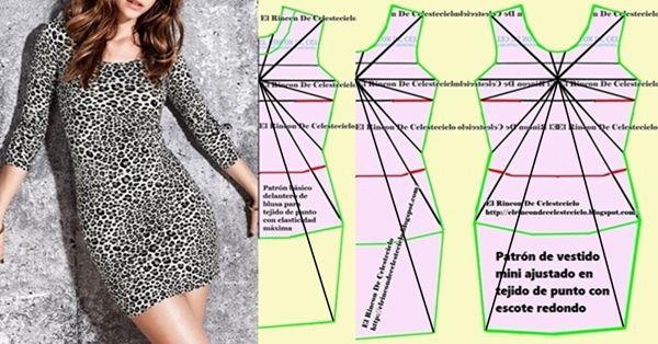 Como hacer vestidos de punto de media