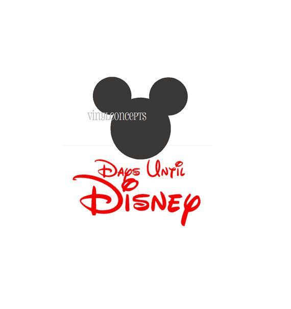 Days Until Disney with Chalkboard Mickey/Minnie  by VinylConcepts, $7.80
