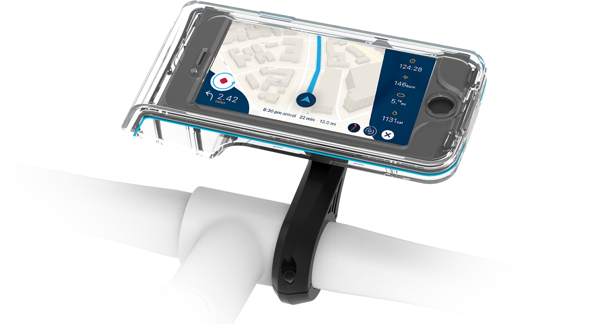 Bycle First bike mount+app that integrates map+video