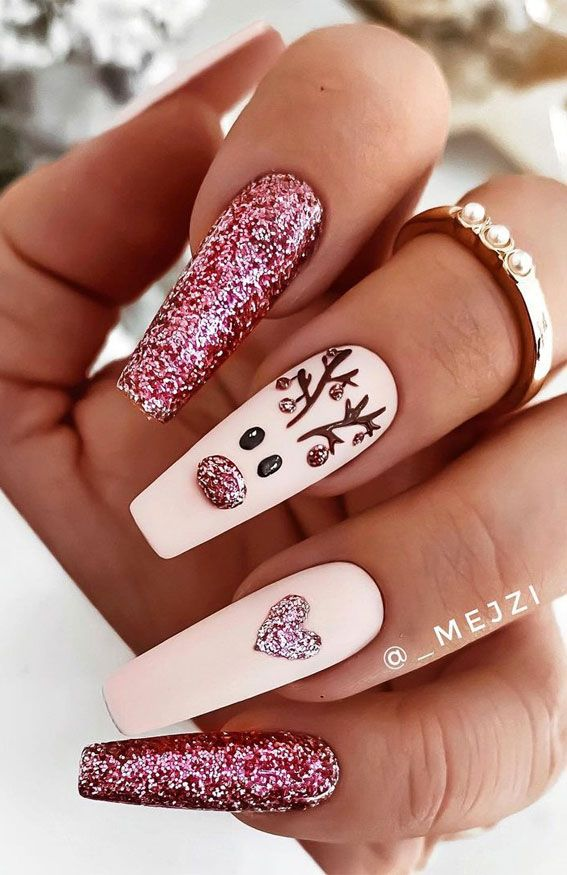 Cute Winter and Christmas Nail Ideas : Part 2