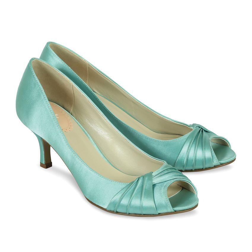 Pink Paradox Mint Green Satin Shoes