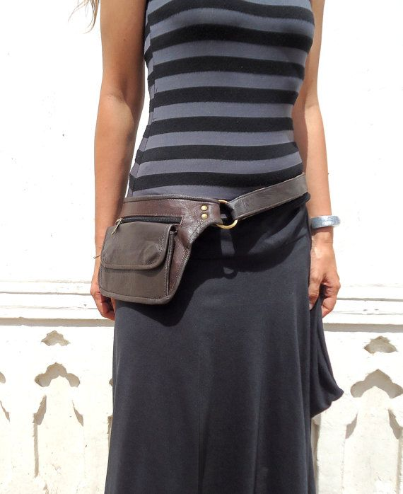 Utility Belt Leather Bag Hip Pocket In By Leilamos 80 00