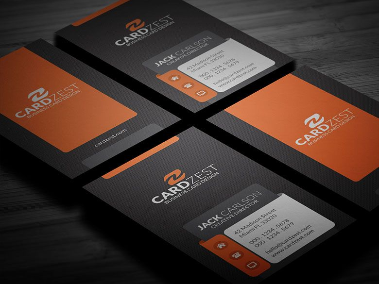 Horizontal And Vertical Business Card Mockup Free Business Card - Horizontal business card template