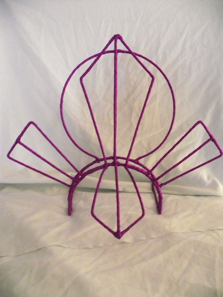 The bare bones of a showgirl headress. Make a frame and build on it.