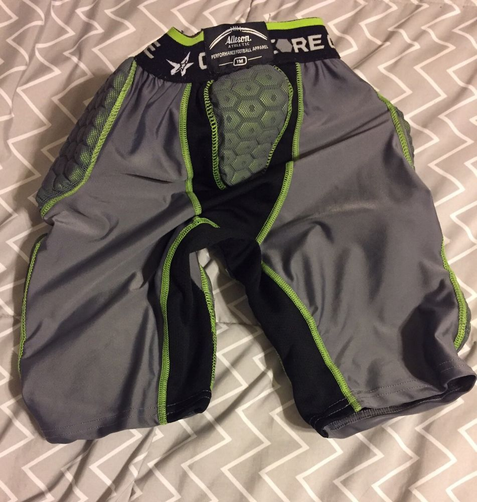 Alleson youth size medium athletic gray black green 5 pads