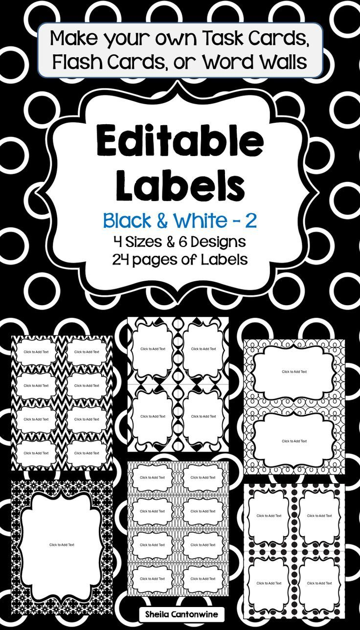 editable labels in black and white math for fourth grade classroom signs subject labels. Black Bedroom Furniture Sets. Home Design Ideas