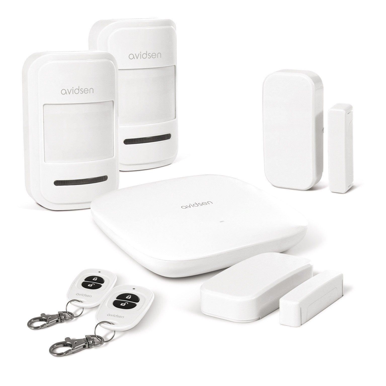 Alarme Maison Sans Fil De Surveillance Interieure Connectee Blanc Avidsen Alarme Maison Sans Fil Cambriolage Fils