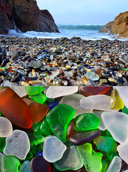 Another Look At California S Stunning Glass Beach Techeblog Glass Beach California Sea Glass Beach California Beach Glass