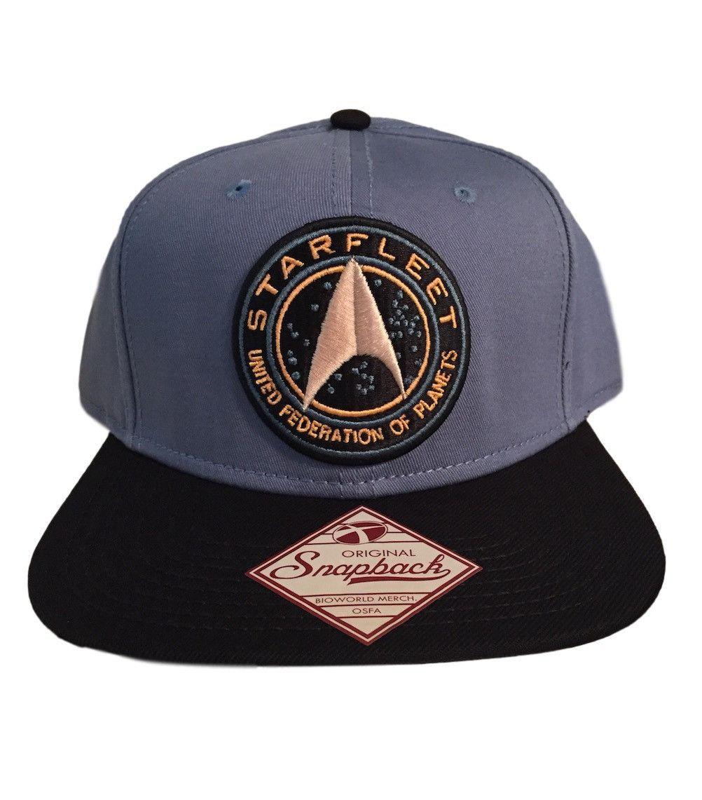 de7ebe34452 Star Trek Starfleet UFP Patch Logo Flat Brim Baseball Cap Snapback ...
