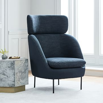 Terrific Modern Curved High Back Chair Westelm Kristina Seating Short Links Chair Design For Home Short Linksinfo