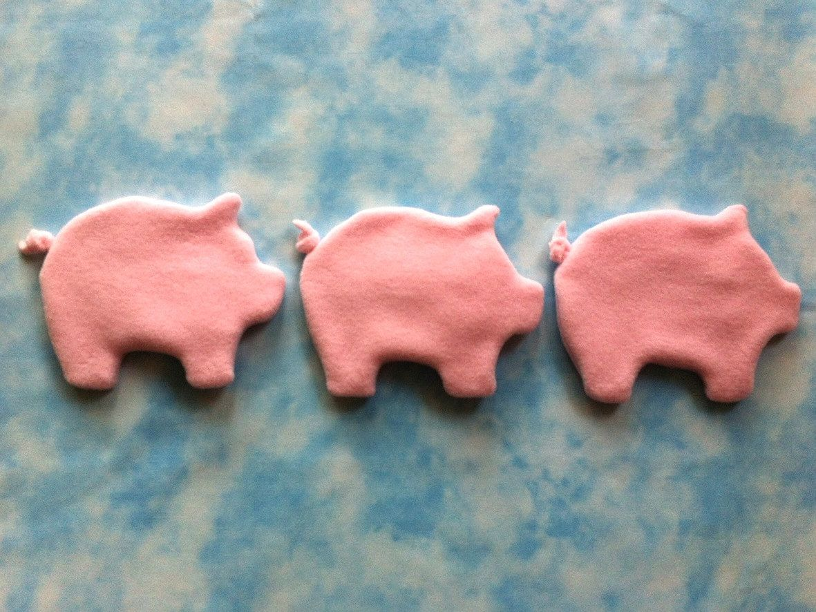 Piggy banks pig coin purses polartec classic fleece