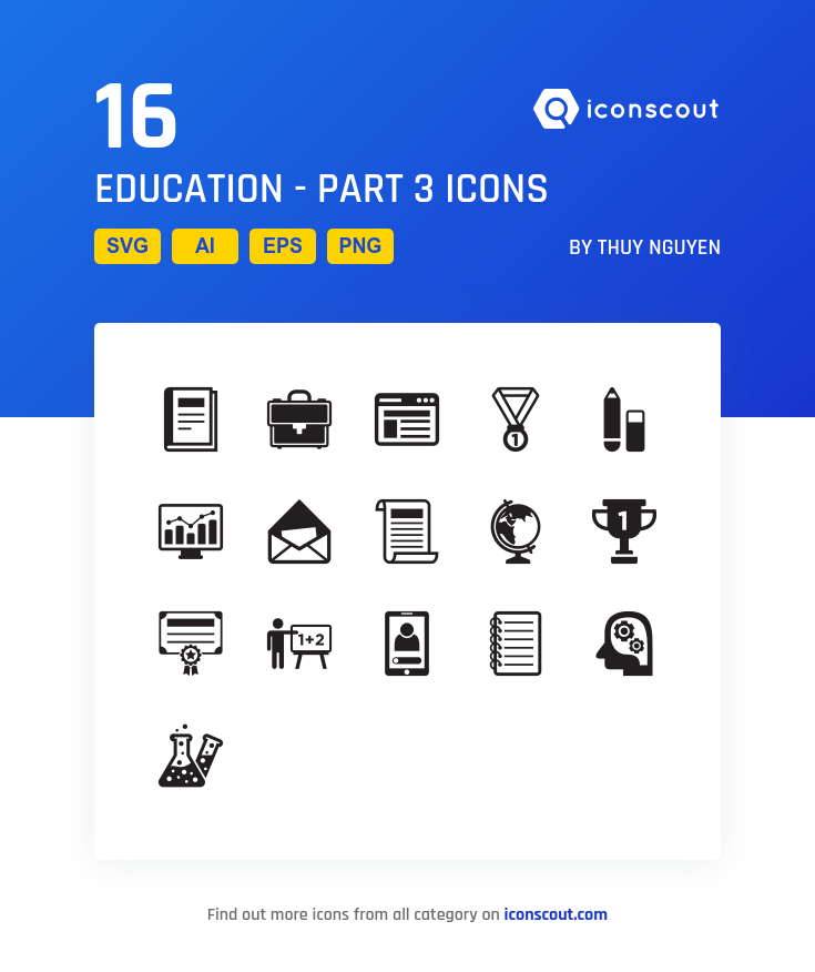 Download Education Part 3 Icon Pack Available In Svg Png Eps Ai Icon Fonts Icon Icon Pack Education
