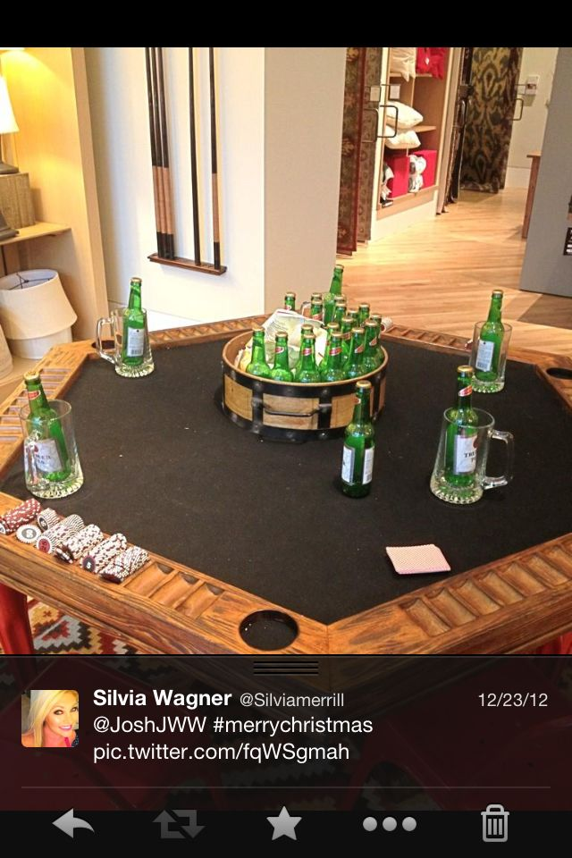 Man Cave Poker Table Pottery Barn My Sports Room
