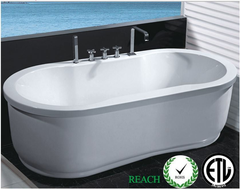 Hydrotherapy Whirlpool Jetted Bathtub Indoor Soaking Hot Bath Tub ...