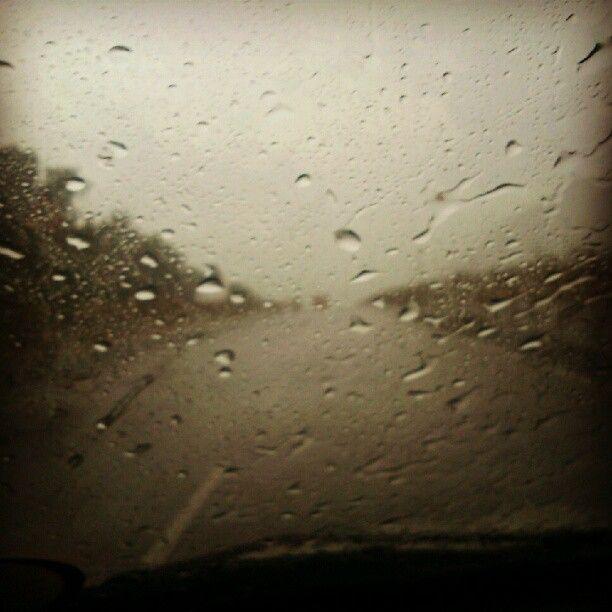 Rain through the windshield @anjujaison via Instagram