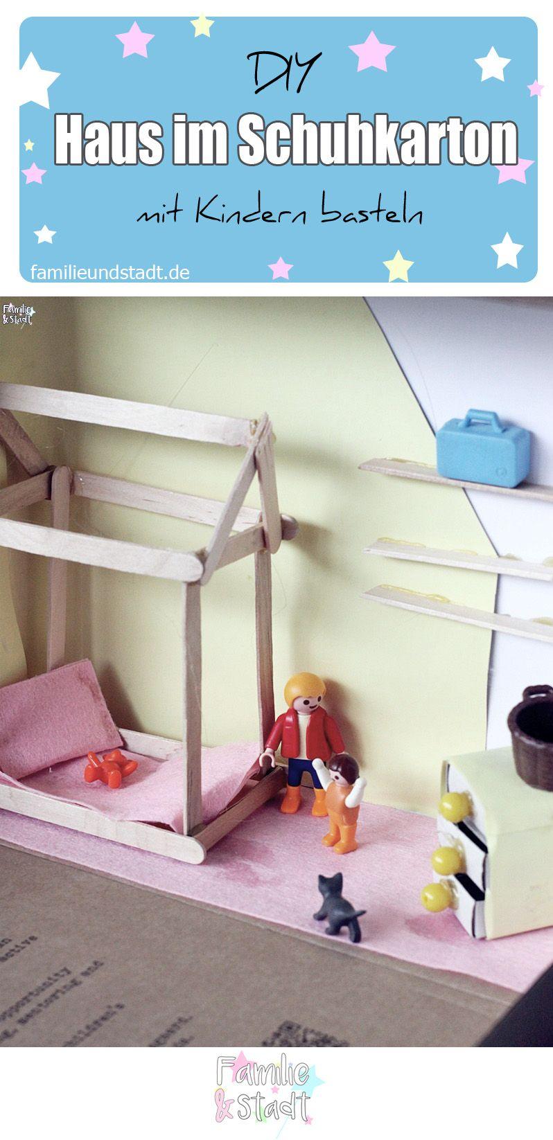 DIY Spielhaus im Schuhkarton - Kinderzimmer   Pinterest   Hausbett ...