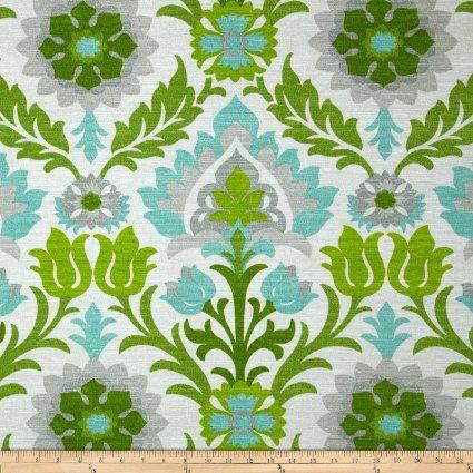 Waverly Sun N Shade Santa Maria Mint Julep Fabric