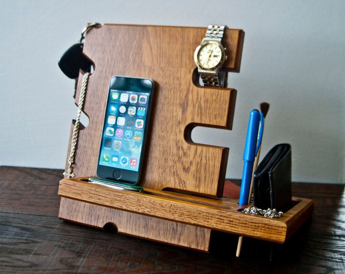 wooden iphone docking station oak valet station wood charging station stand valet 16526