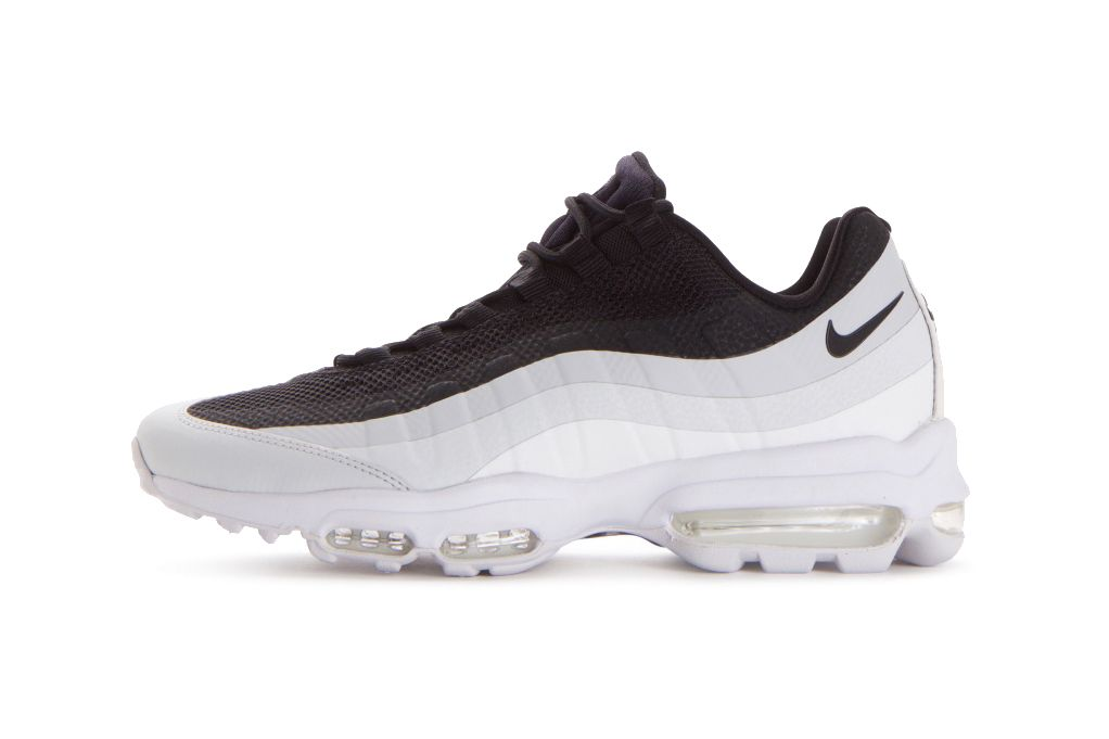d952a3b1710 Nike Introduces Air Max 95 Ultra Essential in Black White Pure Platinum