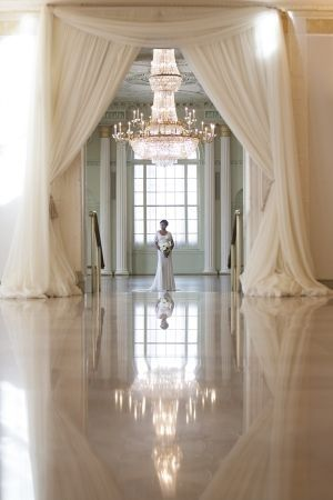 fabulous wedding venue, gorgeous draping, chandelier, ht