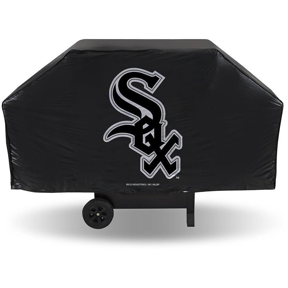 MLB Chicago White Sox 68 Inch Red Vinyl Economy Gas / Charcoal Grill Cover
