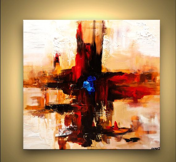 ORIGINAL Modern Contemporary Textured abstract by OsnatFineArt