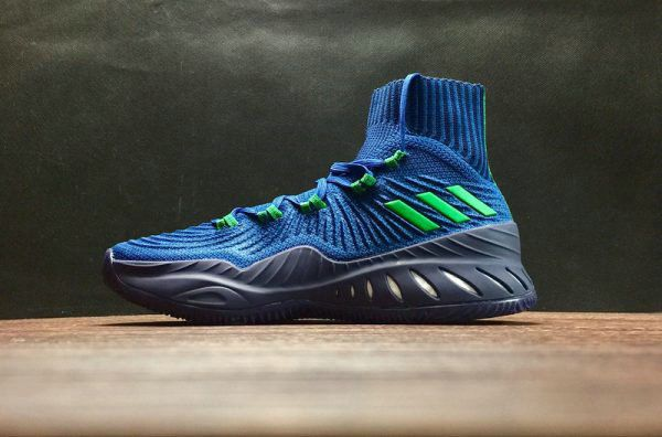 Discount adidas Crazy Explosive 2017 Primeknit Blue Green Black Basketball Shoe For Sale