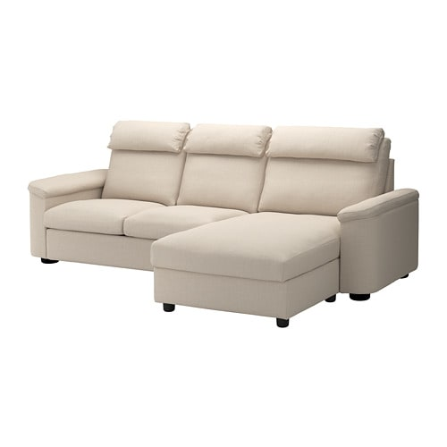 Lidhult With Chaise Longue Gassebol Light Beige 3 Seat Sofa Ikea Sofa Bed With Chaise Sofa Back Cushions Ikea Sofa
