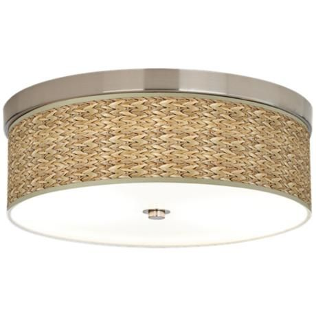 Energy Saving Bathroom Ceiling Lights seagrass giclee energy efficient ceiling light - style # h8796