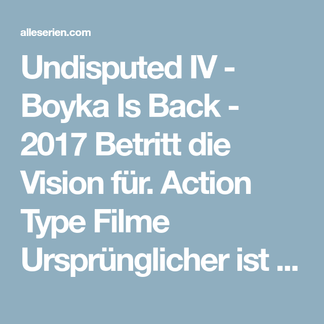 boyka undisputed 4 full movie german