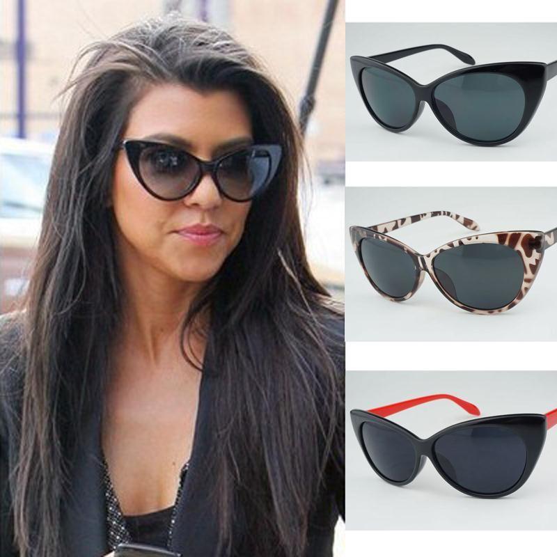 90e288a52e 2016 Sunglasses women with box Classic Cat Eye Style Brand Designer Newly  Fashion Shades black plastic Sun Glasses oculos de sol. kourtney kardashian  cateye ...