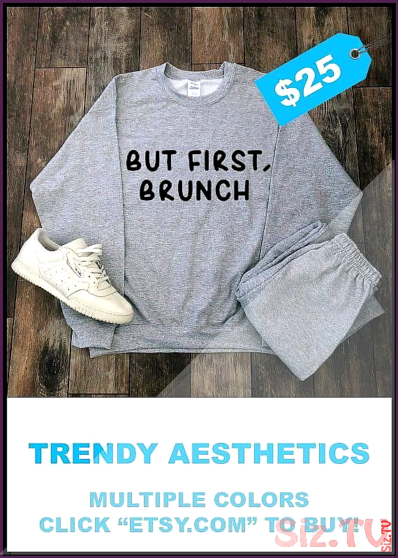 Aesthetic Clothes For Sale But First Brunch Sweatshirt Aesthetic Clothing Streetwear Tumblr Clothin