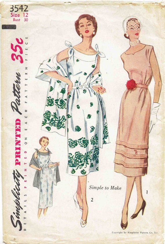 Easy 40s Vintage Sundress Pattern With Stole Simplicity 40 Amazing Sundress Patterns Simplicity